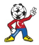 Novelty FOOTBALL HEAD MAN With Turkey Turkish Flag Motif For Football Soccer Team Supporter Vinyl Car Sticker 100x85mm